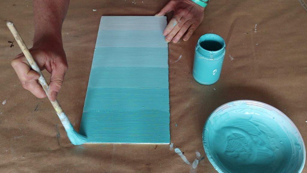 colori in gradazione stesura da vicino