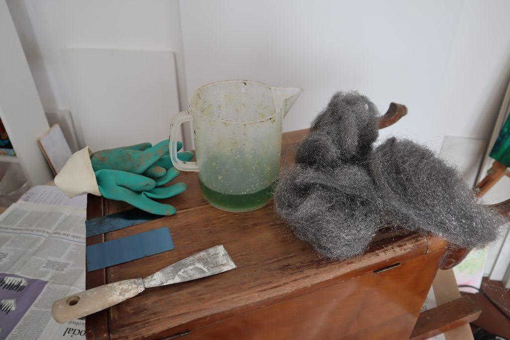 pulitura a solvente materiali occorrenti