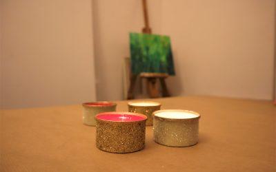 Portacandele Natalizi fai da te – versione Glitter –
